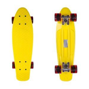 Скейтборд Candy 22'' Yellow/Tr.Red new (желтый/красный)