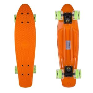 Скейтборд Candy 22'' Orange LED Wheels new (оранжевый)