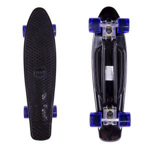 Скейтборд Candy 22'' Black/Tr.Purple new (черный/фиолетовый)