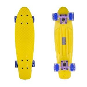 Скейтборд Candy 22'' Yellow LED Wheels new (желтый)