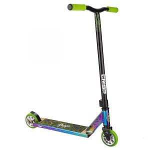 Трюковой самокат Crisp Scooters Surge Chrome Black Green