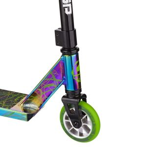 Трюковой самокат Crisp Scooters Surge Chrome Black Green
