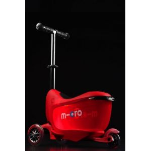 Беговел-самокат Micro Mini2Go Red Deluxe Plus (красный)