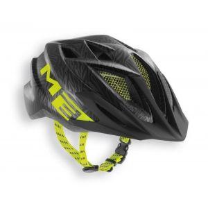 Шлем защитный Met Crackerjack black/green texture (черный)