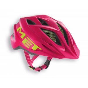 Шлем защитный Met Crackerjack pink/green texture (розовый)