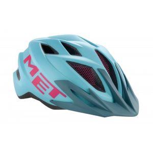Шлем защитный Met Crackerjack light blue/magenta (голубой)