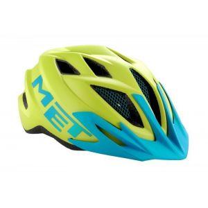 Шлем защитный Met Crackerjack green/cyan (зеленый)