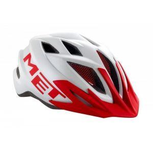 Шлем защитный Met Crackerjack white/red (белый)