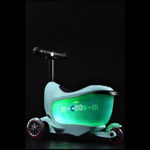 Беговел-самокат Micro Mini2Go Mint Deluxe Plus (мятный)