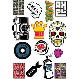 Стикеры AXEL pro brand sticker pack