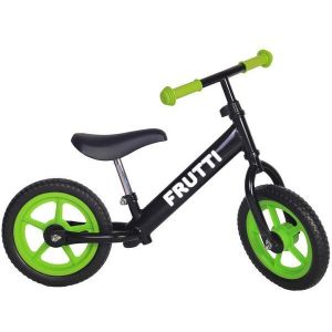 "Беговел Frutti 12"" Blackberry green wheels (черный/зеленый)"