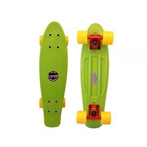Скейтборд Candy 22'' Green/Yellow (зеленый/желтый)