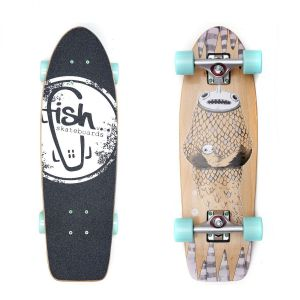 "Скейтборд Fish Skateboards Cruiser Narwhal 26"" (голубой)"