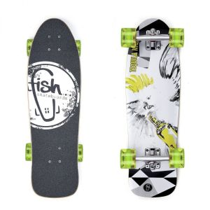 "Скейтборд Fish Skateboards Cruiser Tequila Night 28"" (зеленый)"