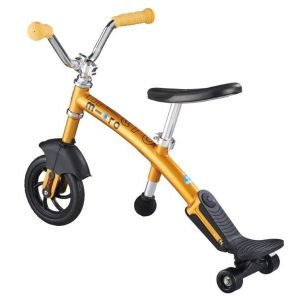 Беговел Micro G-Bike Chopper Deluxe Yellow (желтый)