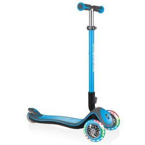 Самокат Globber Fold Up Light wheels Elite Deluxe (голубой)
