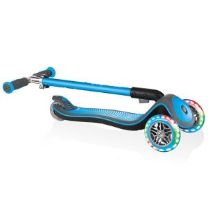 Самокат Globber Fold Up Light wheels Elite Deluxe (голубой)