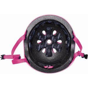 Шлем защитный Globber Flowers Deep Pink (розовый)