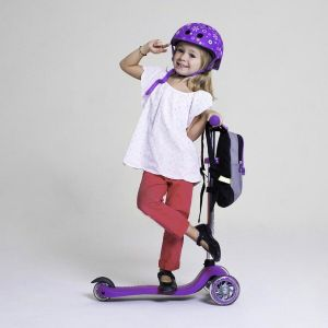 Шлем защитный Globber Flowers Violet (фиолетовый)