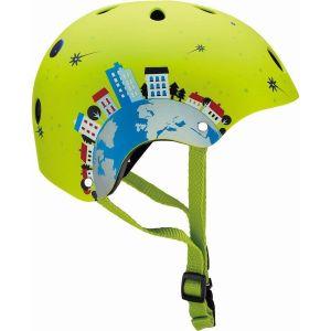 Шлем защитный Globber Rocket Lime Green (зеленый)