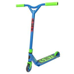 Трюковой самокат Grit Scooters Extremist Blue Fluro Green