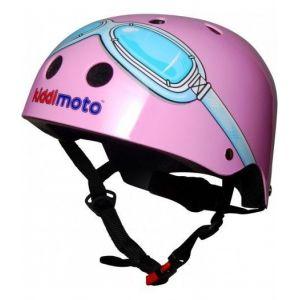 Шлем защитный Kiddimoto очки пилота (розовый)
