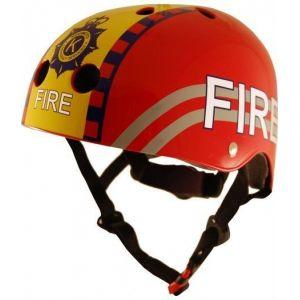 Шлем защитный Kiddimoto пожарный (красный)