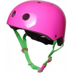 Шлем защитный Kiddimoto неоновый розовый
