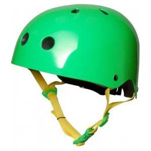 Шлем защитный Kiddimoto неоновый зеленый