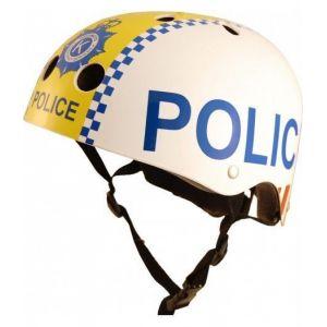 Шлем защитный Kiddimoto полиция (белый)