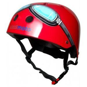 Шлем защитный Kiddimoto очки пилота (красный)