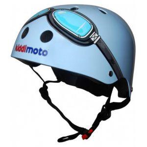 Шлем защитный Kiddimoto очки пилота (синий)