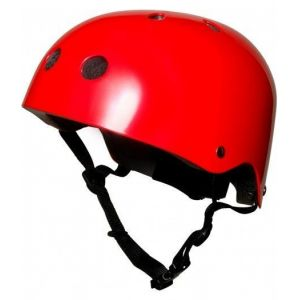 Шлем защитный Kiddimoto красный металлик