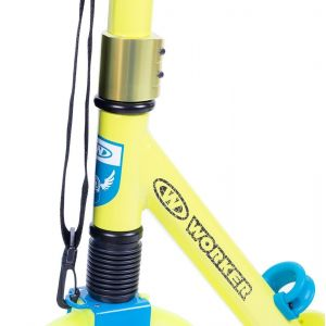 Самокат Worker City 230 susp (желто-голубой)