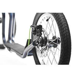 Самокат Yedoo Mezeq New V-brake (черно-зеленый)
