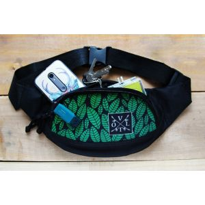 Бананка - поясная сумка Volt Green Leaves