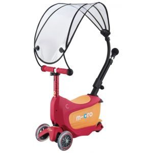 Беговел-самокат Micro Mini2go Canopy Deluxe Ruby Red (красный)