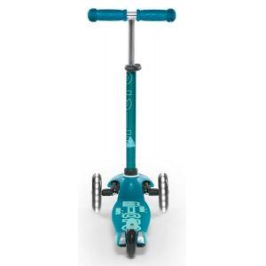Самокат Mini Micro Deluxe Aqua LED (голубой)