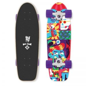 Скейтборд Mini Longboard Street Surfing Kicktail Comics 28""