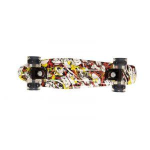 """Скейтборд Movino Graffiti 22"""" LED (желтый)"""