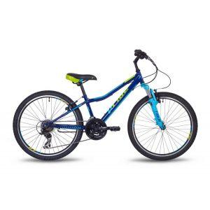 """Велосипед 24"""" Pride Brave 21 синий / голубой / лайм 2018"""