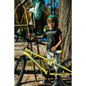 """Велосипед 20"""" Pride Jack 6 лайм/голубой/черный 2018"""