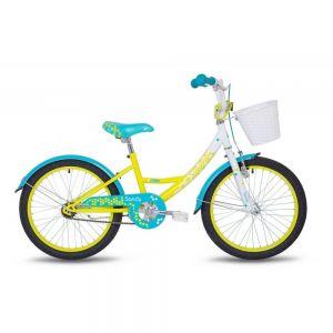 "Велосипед 20"" Pride Sandy белый/лайм/бирюзовый 2018"