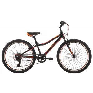 """Велосипед 24"""" Pride Brave 7 черный/оранжевый/красный 2018"""