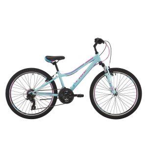 """Велосипед 24"""" Pride Lanny 21 голубой/бирюзовый/малиновый 2018"""