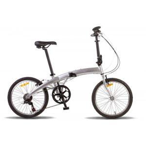 """Велосипед 20"""" PRIDE Mini 6sp (серебристый)"""