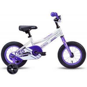 """Велосипед 12"""" Apollo Neo girls 2019 (фиолетовый/белый)"""