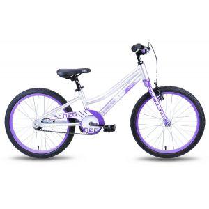 """Велосипед 20"""" Apollo Neo girls 2018 (фиолетовый/белый)"""