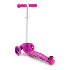 Самокат Smj Sport Mini LED (ярко-розовый)