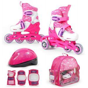 Детские ролики SMJ Sport Combo 2 в 1 (розовый)